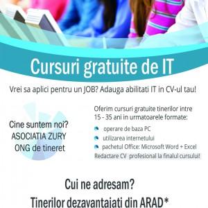 Selectie participanti pentru cursuri IT gratuite – DL: 22/05/2015