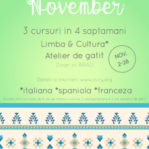 Inscrie-te la cursuri gratuite de limbi straine si ateliere gastronomice in ARAD – DL: 01/11/2015